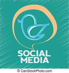 κοινωνικός , μέσα ενημέρωσης , πουλί