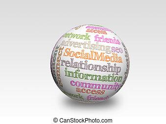 κοινωνικός , μέσα ενημέρωσης , 3d