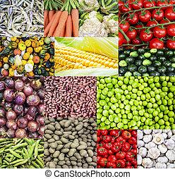 κολάζ , άβγαλτος από λαχανικά