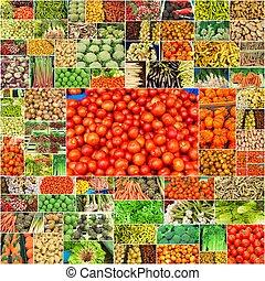 κολάζ , από , λαχανικά