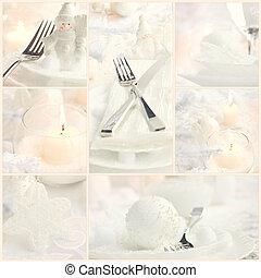 κολάζ , γεύμα , xριστούγεννα
