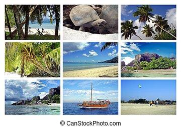κολάζ , seychelles