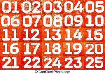 κολάζ , textural, αριθμοί