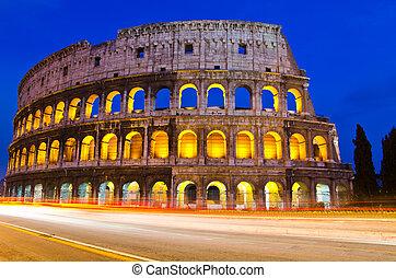 κολοσσαίο , νύκτα , ιταλία , ρώμη