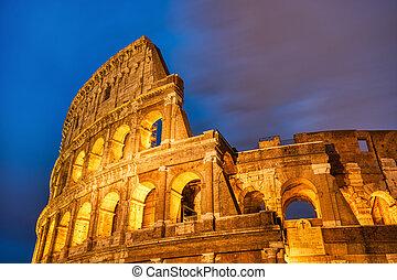 κολοσσαίο , ρώμη , λυκόφως , διακοσμώ με φώτα