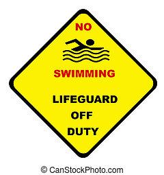 κολύμπι , όχι