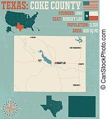 κομητεία , χάρτηs , κωκ , texas