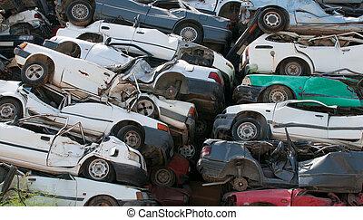 κομματάκι , άμαξα αυτοκίνητο , για , ανακύκλωση