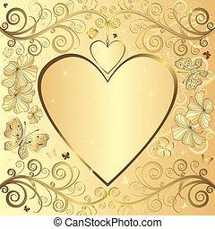 κομψός , ανώνυμο ερωτικό γράμμα , φόντο , χρυσαφένιος