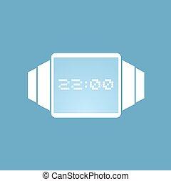 κομψός , μοντέρνος , ρολόι , εικόνα