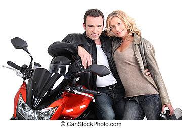 κομψός , biker's , shoulder., biker , κλίση