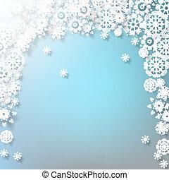 κομψός , xριστούγεννα , με , snowflakes., eps , 10