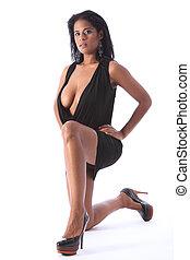 κοντός , μόδα , μαύρο , εθνικός , ελκυστικός προς το αντίθετον φύλον , μοντέλο , φόρεμα