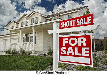 κοντός , πώληση , σπίτι , αντί αγορά αναχωρώ , και , σπίτι