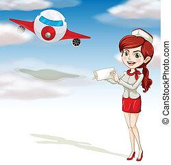 κορίτσι , αεροπλάνο , αέραs