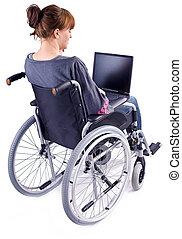 κορίτσι , αναπηρική καρέκλα