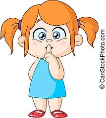 κορίτσι , δάκτυλο , χείλια
