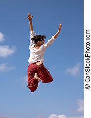 κορίτσι , ιπτάμενος