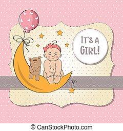 κορίτσι , κάρτα , βρέφος άφθονη ροή