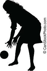 κορίτσι , μπάλα , παίξιμο