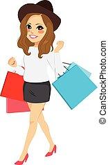 κορίτσι , μόδα , ψώνια