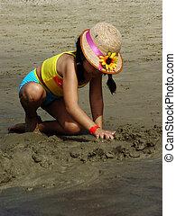 κορίτσι , στην παραλία