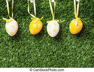 κορδέλα , αυγά , πόσχα , γραφικός , απαγχόνιση