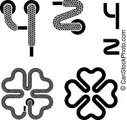 κορδόνι υποδημάτων , αλφάβητο , μικροβιοφορέας