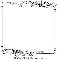 κορνίζα , διακοσμημένος , αριστοτεχνία nouveau
