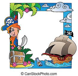 κορνίζα , θέμα , 3 , θάλασσα , πειρατής