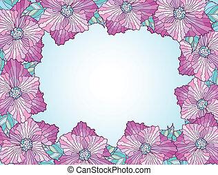 κορνίζα , λουλούδι