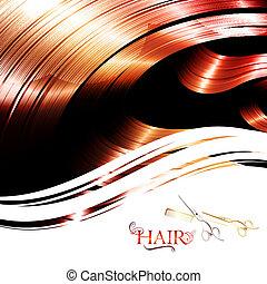 κορνίζα , μαλλιά