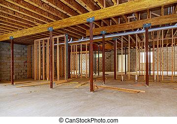 κορνίζα , υπό κατασκευή , υπόγειο , εσωτερικός , καινούργιος