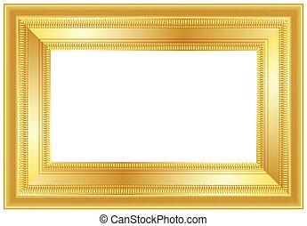 κορνίζα , χρυσός