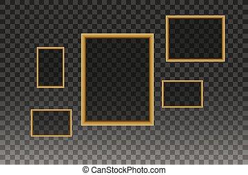 κορνίζα , vector., φωτογραφία , ή , εικόνα , τέχνη , επάνω , κρασί , τοίχοs