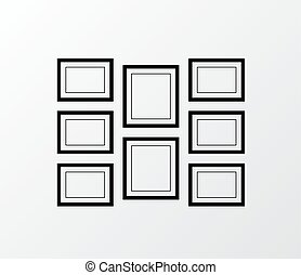 κορνίζα , vector., φωτογραφία , γκαλλερί τέχνης