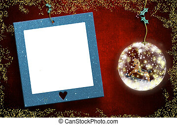 κορνίζα , xριστούγεννα , φωτογραφία , καρτέλλες