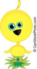 κοτοπουλάκι , μικρός , κίτρινο