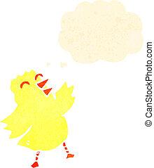 κοτοπουλάκι , χνουδάτος , γελοιογραφία , κίτρινο