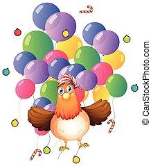 κοτόπουλο , μπαλόνι , γραφικός