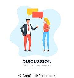 κουβέντα , λόγοs , εικόνα , διαμέρισμα , discussion., concepts., συζήτηση , επικοινωνία , μικροβιοφορέας , διάλογος , άνθρωποι , design., επιχείρηση , bubbles.