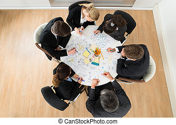 κουβεντιάζω , συνάντηση , businesspeople