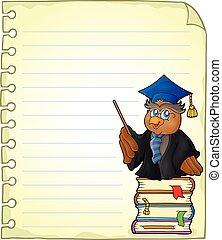 κουκουβάγια , σημειωματάριο , σελίδα
