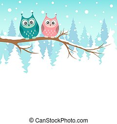κουκουβάγιες , δυο