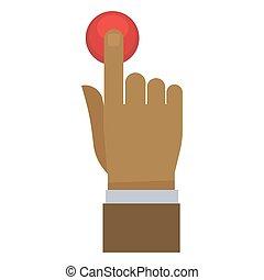 κουμπί , αντίτυπο δίσκου , χέρι