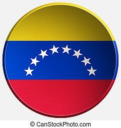 κουμπί , βενεζουέλα , στρογγυλός , 3d