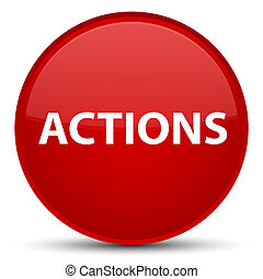 κουμπί , ενέργειες , στρογγυλός , ειδικό , κόκκινο
