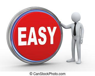 κουμπί , εύκολος , 3d , επιχειρηματίας