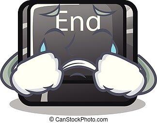 κουμπί , τελειώνω , απομονωμένος , κλαίων , γελοιογραφία