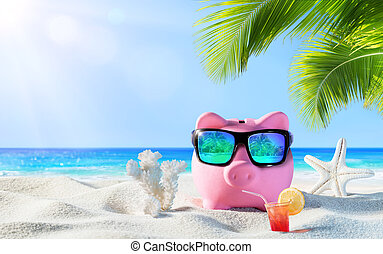 κουμπαράς, με , πίνω , στην παραλία